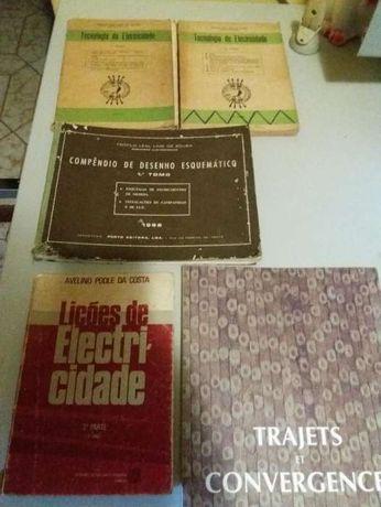 Livros de desenho esquemático e electricidade