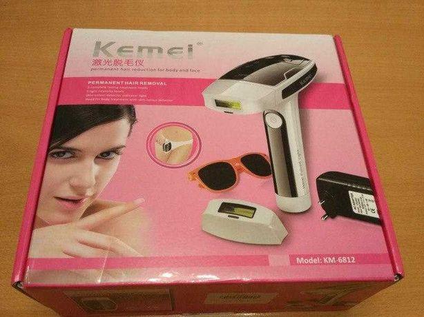 Kemei Km6812 Лазерный эпилятор для лица и тела. Удаление волос, бикини