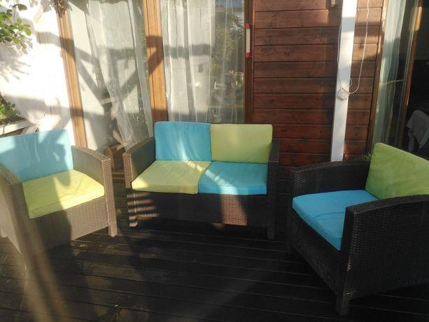 Komplet wypoczynkowy ogrodowy ratanowy