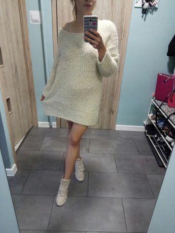 Sweter gruby złoty rozmiar 46