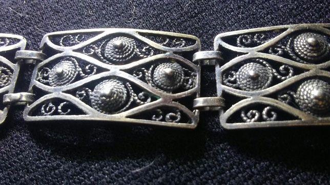 Bransoletka srebrna filigran