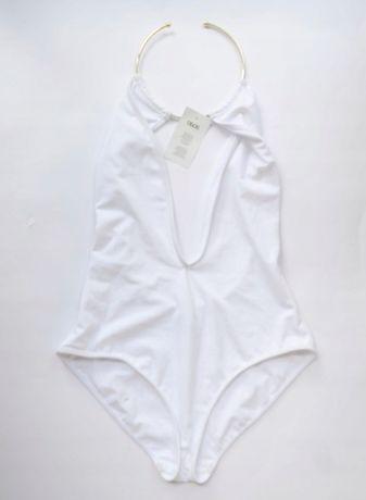 Strój Kąpielowy Nowy Choker L 40 ASOS Biały Sexy Zara Triumph H&M C&A
