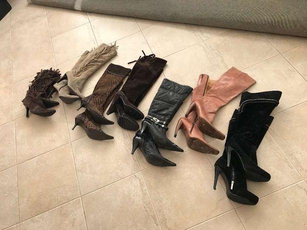 Lote de botas de senhora várias marcas tamanho 38
