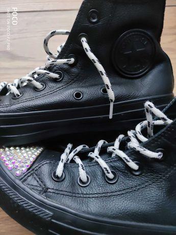 Damskie czarne Converse Chuck Taylor All Star za kostkę, rozmiar 38