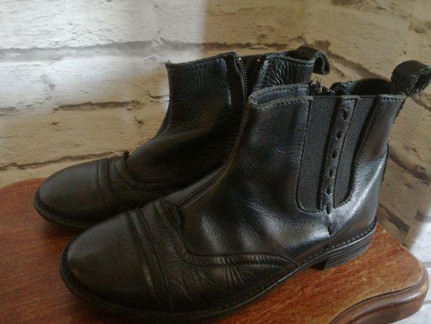 Czarne botki Zara r.30