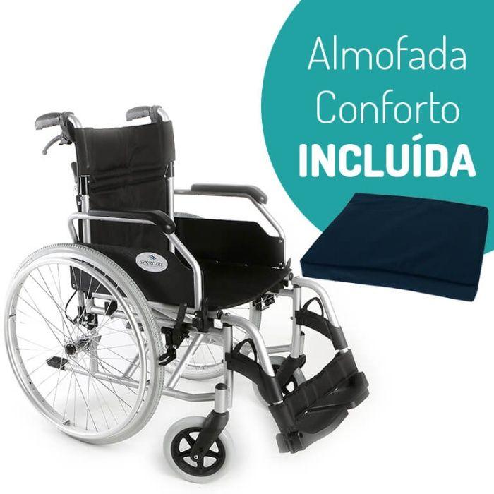 SENSICARE - Cadeira De Rodas Em Alumínio com Travão de Cuidador NOVA