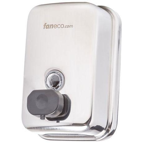 Dozownik do mydła w płynie Faneco DUO 0.5 litra stal połysk