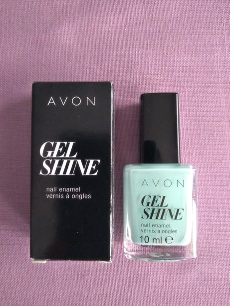 Avon Gel Shine miętowy lakier do paznokci