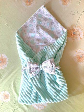 Конверт на выписку, одеяло, плед плюшевый, пледик