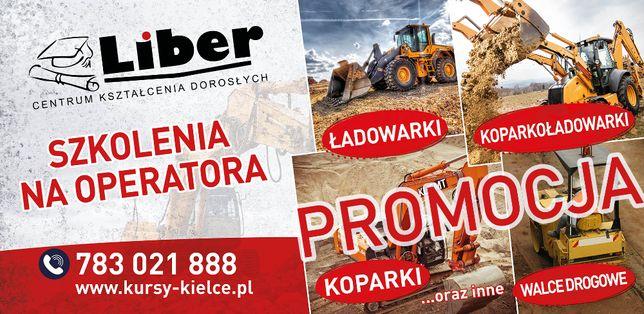 Promocja Kurs na operatorów koparki i ładowarki Start 03.07