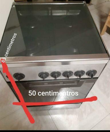 Placa a gas + forno eletrico