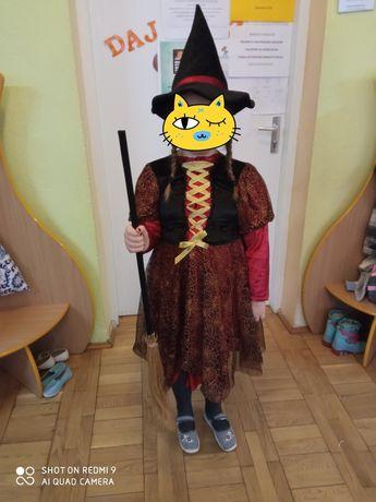 Strój czarownicy + miotła i kapelusz