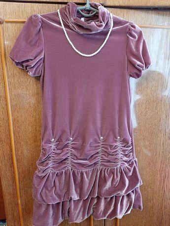 Очень нарядное веллюровое платье для настоящей принцессы!