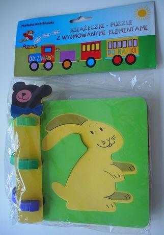 Piankowa Książka-Puzzle – Puzzle z kształtami zwierząt – Nowe