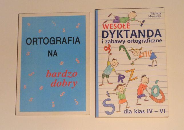 książki do ćwiczenia ortografii dla dzieci, do nauki, szkoła