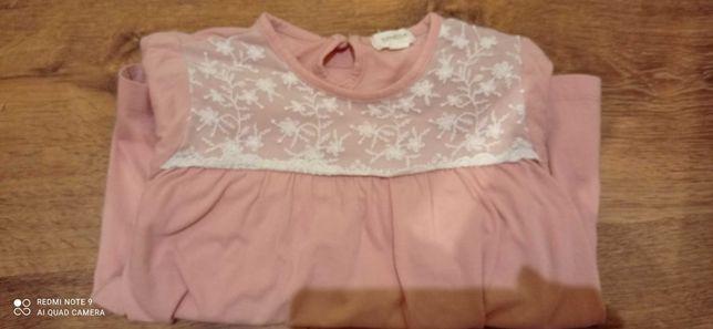 Bluza bluzka Newbie KappAhl 98/104 dziewczynka koronka