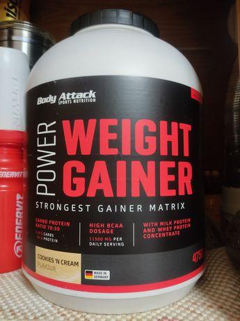 Power Wheight gainer 4750g body attack proteína, mass gainer