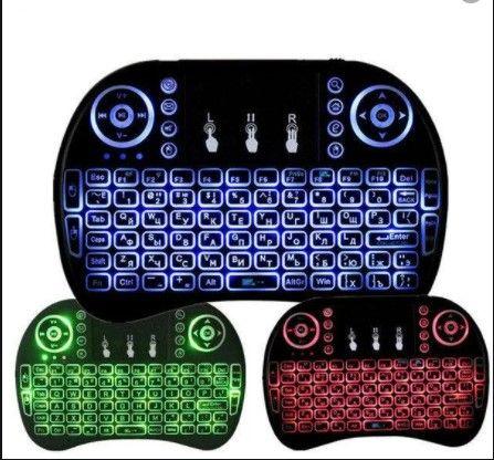 Беспроводная Клавиатура wireless MWK08/i8 LED touch с подсветкой