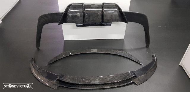 Conjunto Difusor Spoiler Aileron Bmw Serie 6 F12 F13 M6 Carbono Real