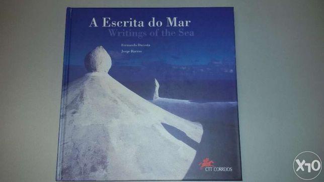 """Livro de selos entitulado """" A Escrita do Mar"""""""