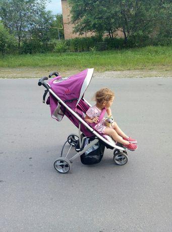 Трехколесная прогулочная коляска Casato SK-520, цвет фиолетовый