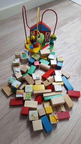 Zestaw drewnianych zabawek dla niemowlaka