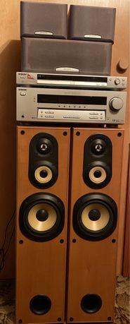 Kino domowe SONY -amplituner STR-DE495  zestaw