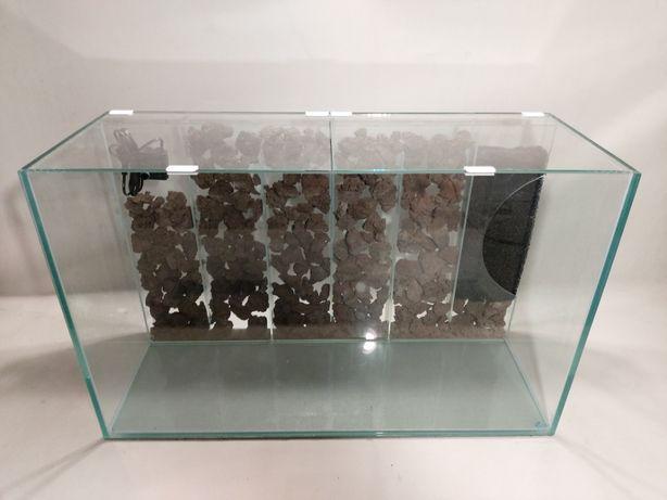 Nowe akwarium 80x30x40 + panel filtracyny + pokrywa, AquaWaves
