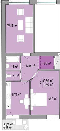 Продам 2 комн. квартиру, новый дом,  пос. Таирово.