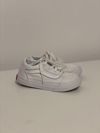 Детские белые кеды Vans 24  оригинал обувь кросовки весенняя ботинки