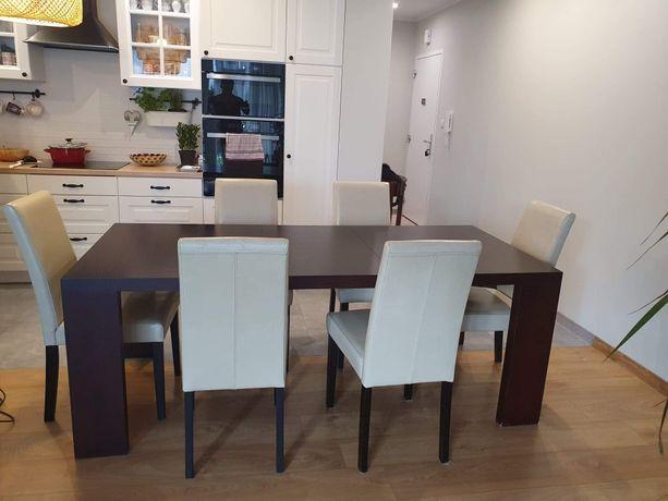 Komplet stół rozkladany z 6 krzesłami