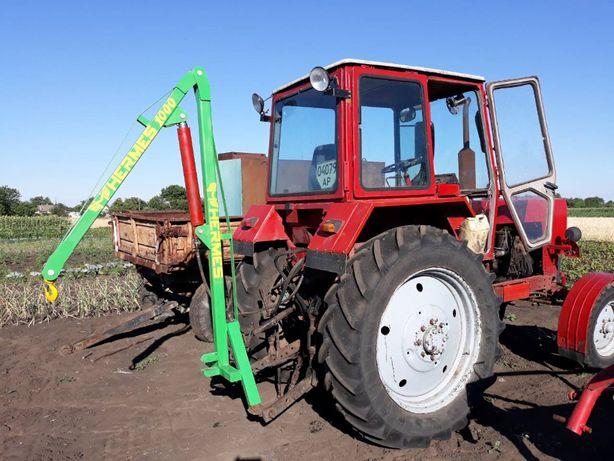 Кран манипулятор Гермес 1000 на трактор МТЗ, ЮМЗ, Т150