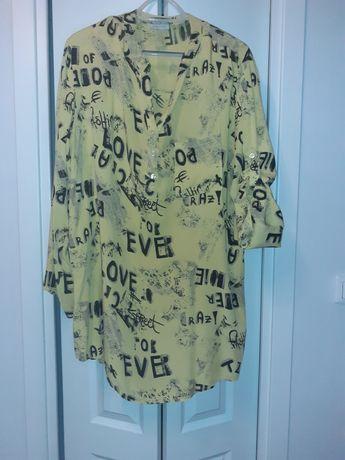 Żółta koszulo-tunika rozm 44-48