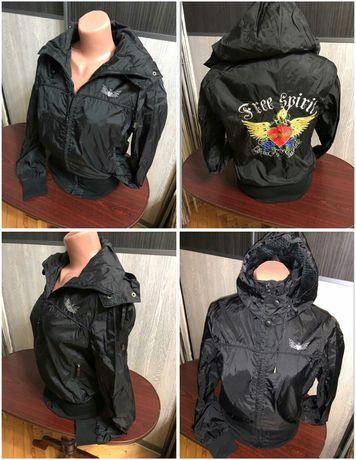Кофта куртка ветровка мастерка подкладка сетка капюшон s-m-l р 38-42