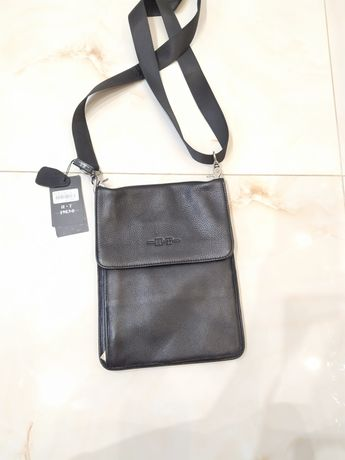 Мужская кожаная сумка H.T-1983-8 Италия (NTNO:3227-2) Color: BLACK