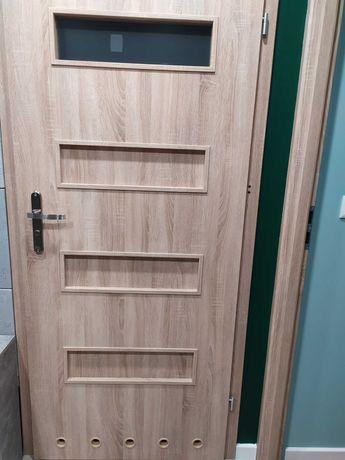 Drzwi dąb Sonoma łazienkowe