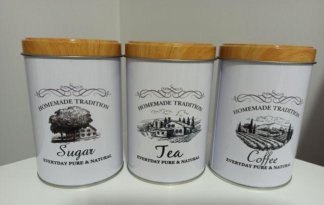 Pojemniki kawa herbata cukier