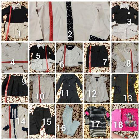 Школьная форма костюм блузка платье водолазка брюки 6-8 лет 122-134