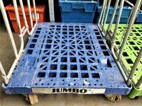 Wózek Transportowy Magazynowy Siatkowy Platforma - 80x70x170cm.-500kg