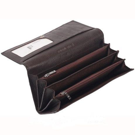 Элегантный женский кошелек из высококачественной кожи коричневый-M501
