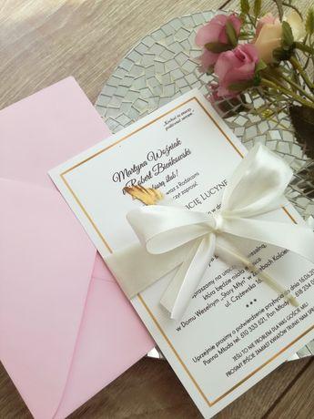 Zaproszenie ślubne z dodatkiem pióra