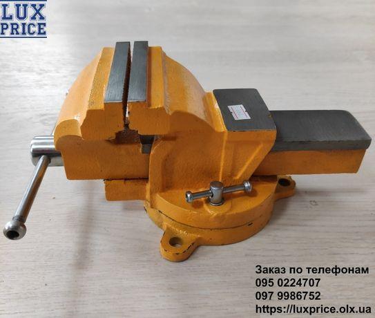 Тиски слесарные поворотные Mastertool 100 мм ширина губок