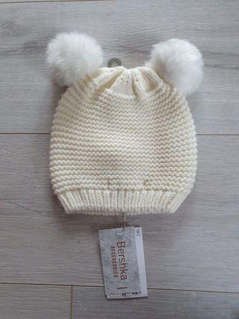 Kremowa czapka zimowa Bershka NOWA S/M