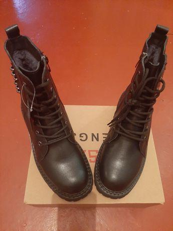 Шкіряні Зимові ботінки Кожаные Зимние ботинки 38 р