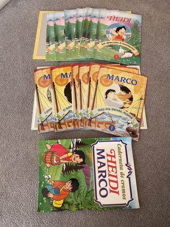 Coleção 35 fasciculos Heidi e Marco + oferta caderneta