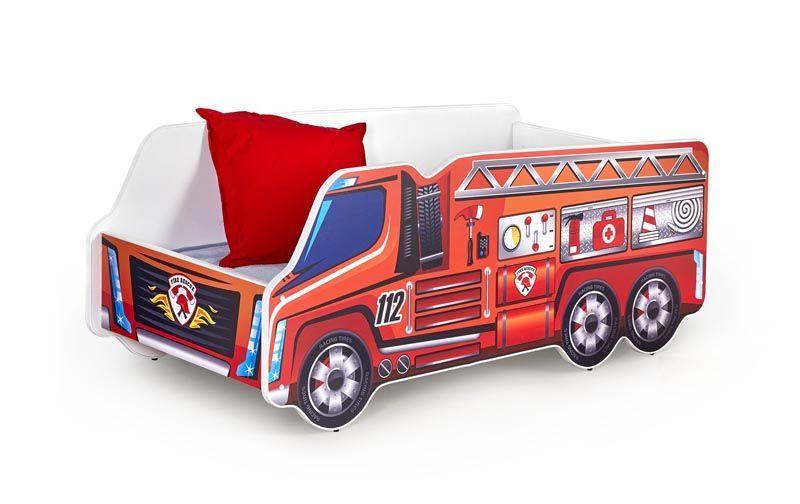 FIRE TRUCK / łóżko wielobarwny