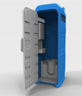 WC Portátil Cabine Sanitária Casa de Banho Móvel c/ Lava-mãos