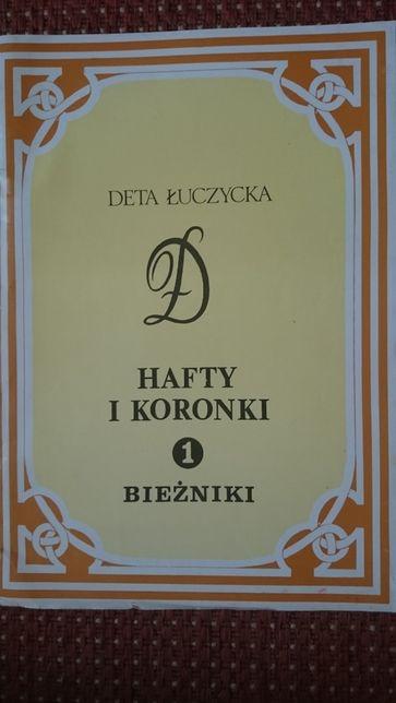 """""""Hafty i koronki""""-bieżniki, NOWE- 16 b. dużych i pięknych wzorów"""