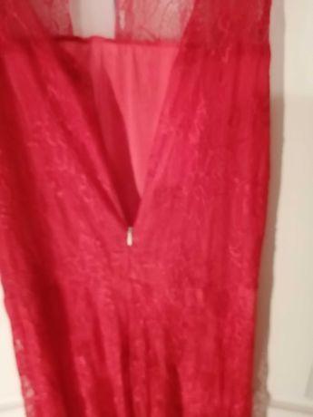 Koronkowa długa sukienka