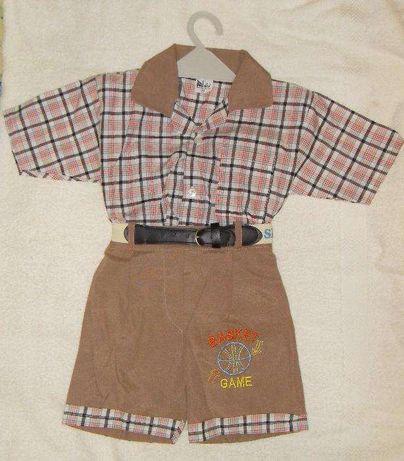 Шорты рубашка короткий рукав летний комплект одежды для мальчика